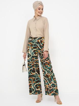 Brown - Multi - Pants - Tavin