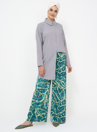 Green - Multi - Pants - Tavin