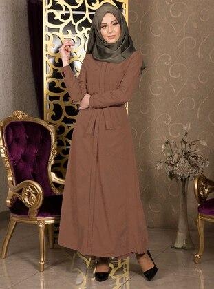 - Unlined - Crew neck - Cotton - Abaya