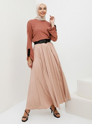Pink - Powder - Fully Lined - Skirt