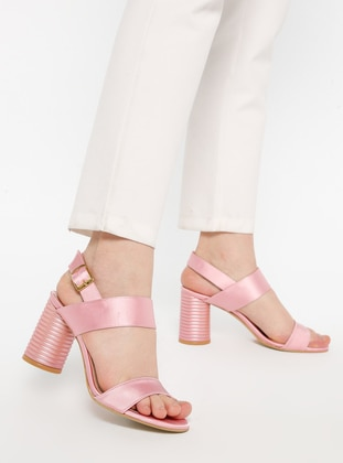 Satin - Powder - High Heel - Sandal - Heels