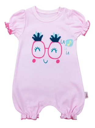 Multi - Crew neck - Cotton - Pink - Overall