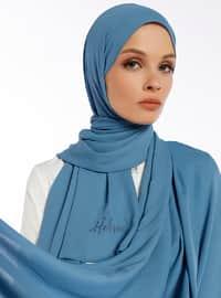 Aden Crepe Shawl - Aqua Blue