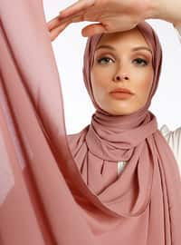 Aden Crepe Shawl - Dusty Rose