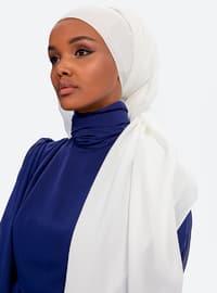 Aden Crepe Shawl - Pearl White