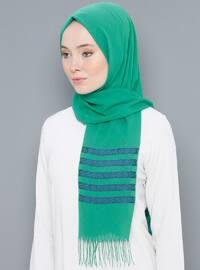 Emerald - Striped - Printed - Cotton - Shawl