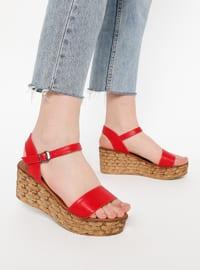 Red - High Heel - Sandal - Sandal