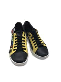 Yellow - Black - Sport - Sports Shoes