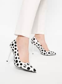 Black - White - High Heel - Heels