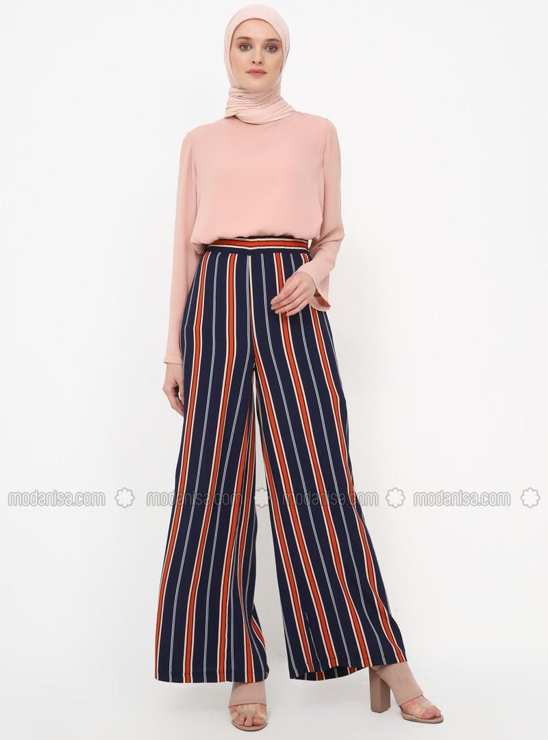 b465709ef47708 Red - Navy Blue - Stripe - Pants. Fotoğrafı büyütmek için tıklayın