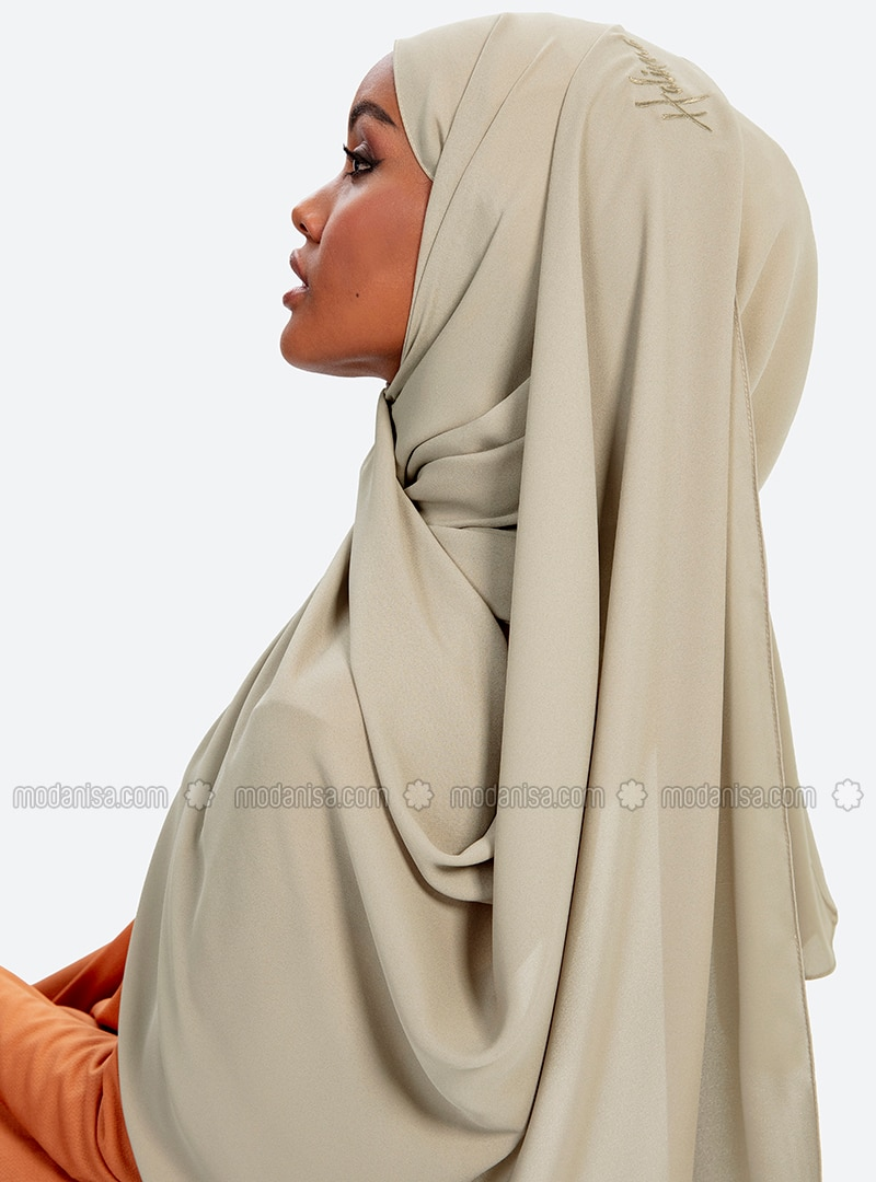 Aden Crepe Shawl - Green Almond