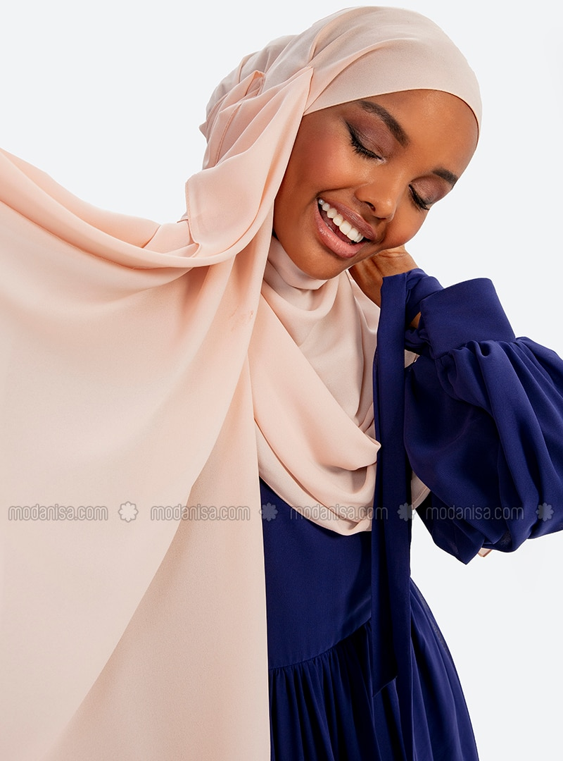 Aden Crepe Shawl - Light Powder
