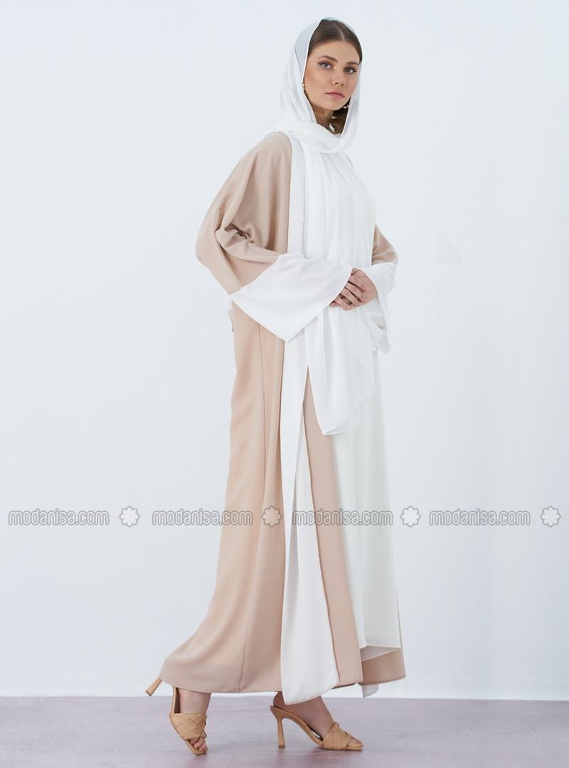 Minc - Unlined - V neck Collar - Abaya