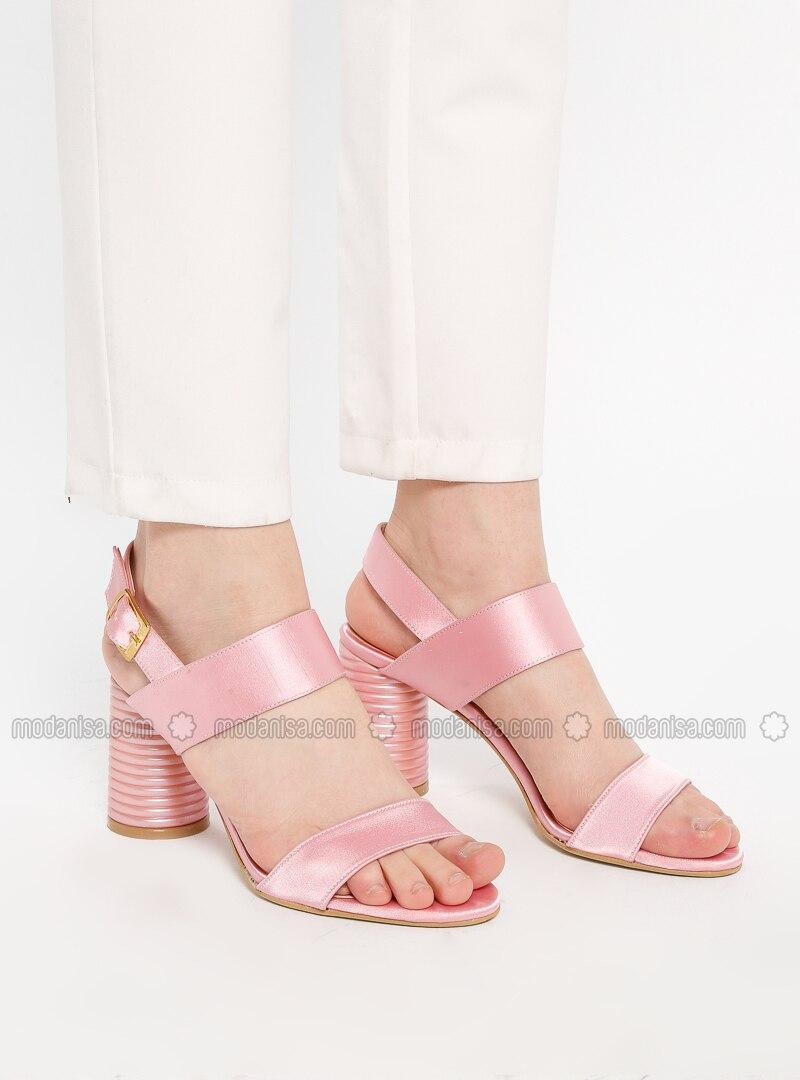 Heel High Powder Satin Heels Sandal wkuZXPOilT