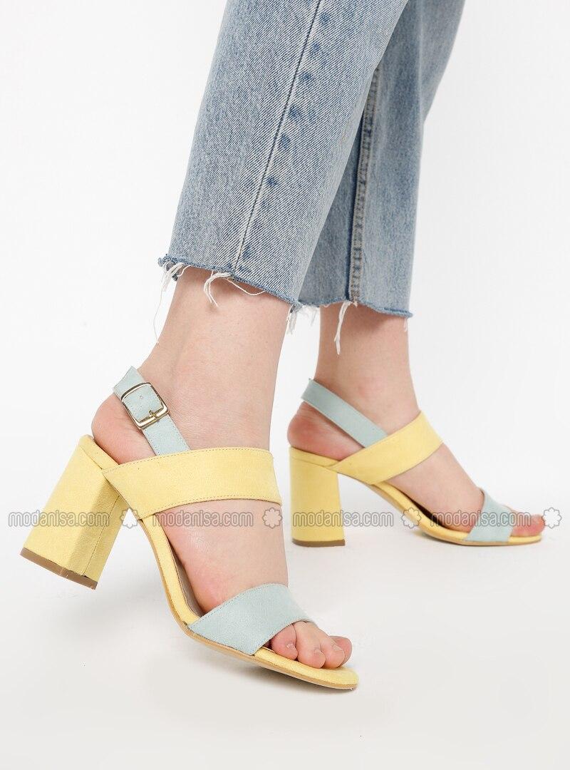 Yellow - High Heel - Sandal - Heels