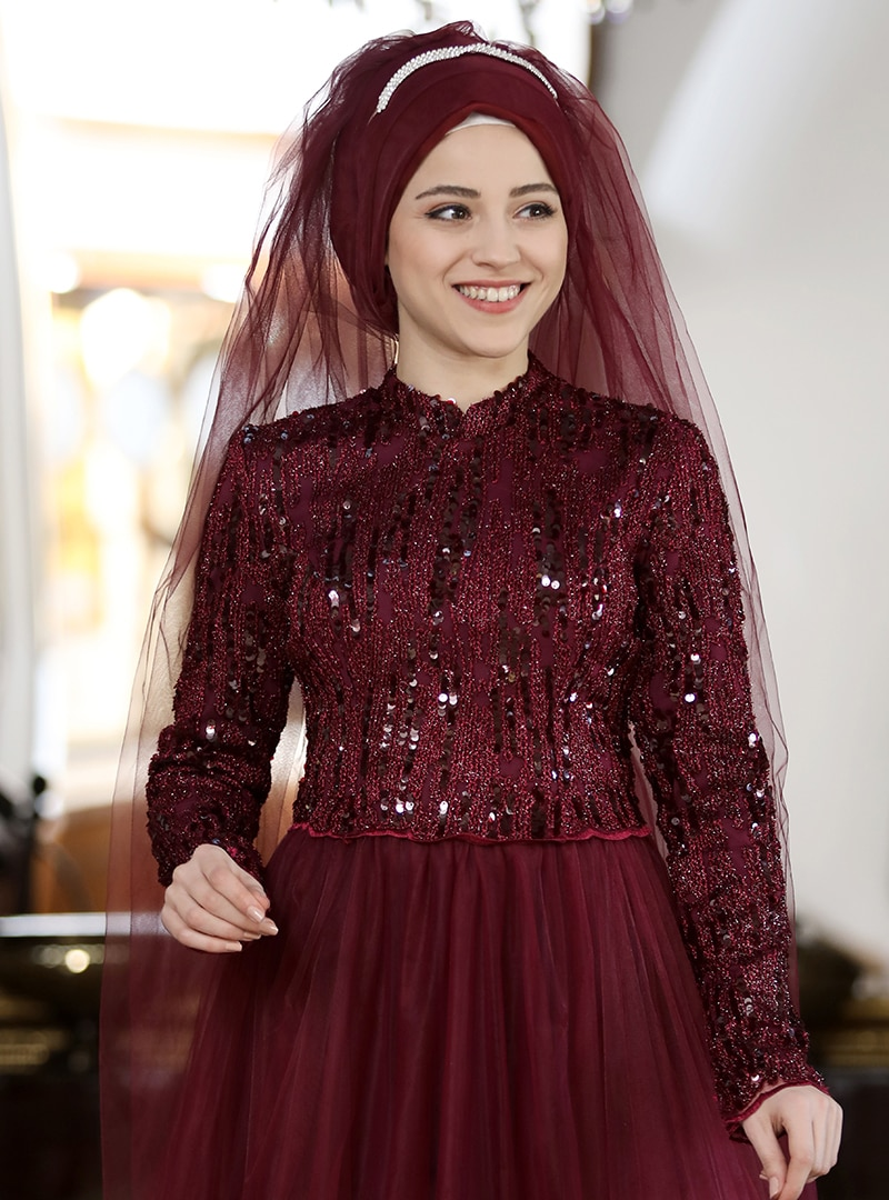 Al-Marah Bordo Azra Abiye Elbise