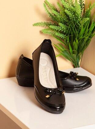 Black - Flat - Shoes - Ayakkabı Havuzu