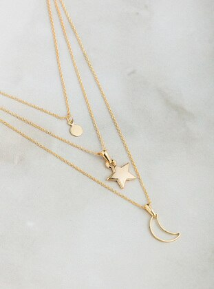 Multi - Gold - Necklace