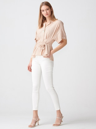 - Point Collar - Blouses