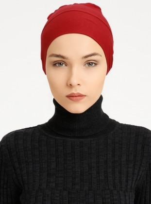 Combed Cotton - Lace up - Non-slip undercap - Maroon - Bonnet