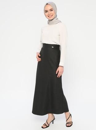Anthracite - Half Lined - Viscose - Skirt