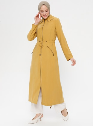 Mustard - Unlined - Rayon - Topcoat