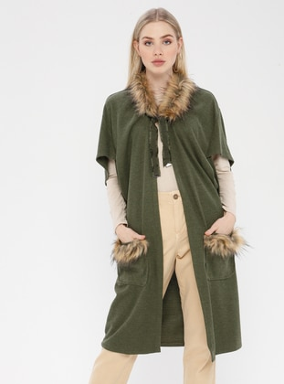 Green - Khaki - Unlined - Vest