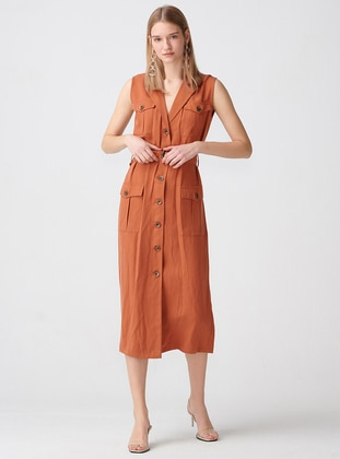 - Button Collar - Unlined - Dress