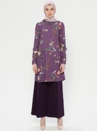 Purple - Multi - Unlined - Suit
