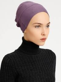 Combed Cotton - Lace up - Non-slip undercap - Purple - Bonnet