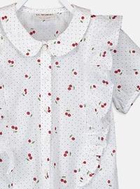Ecru - Printed - Girls` Shirt
