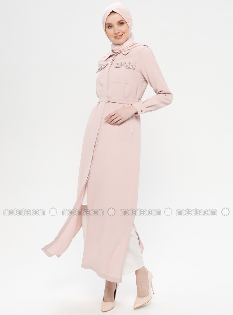 Powder - Unlined - Point Collar - Abaya