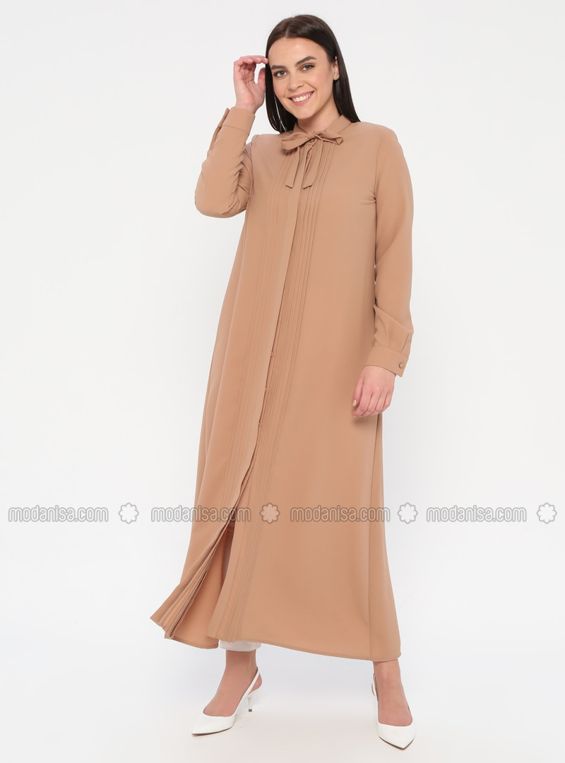 Unlined - Crew neck - Plus Size Coat