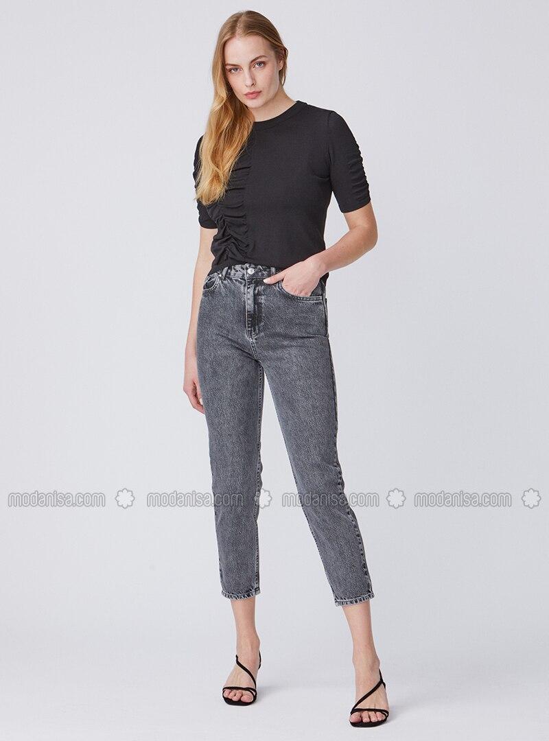Anthracite - Cotton - Denim - Pants