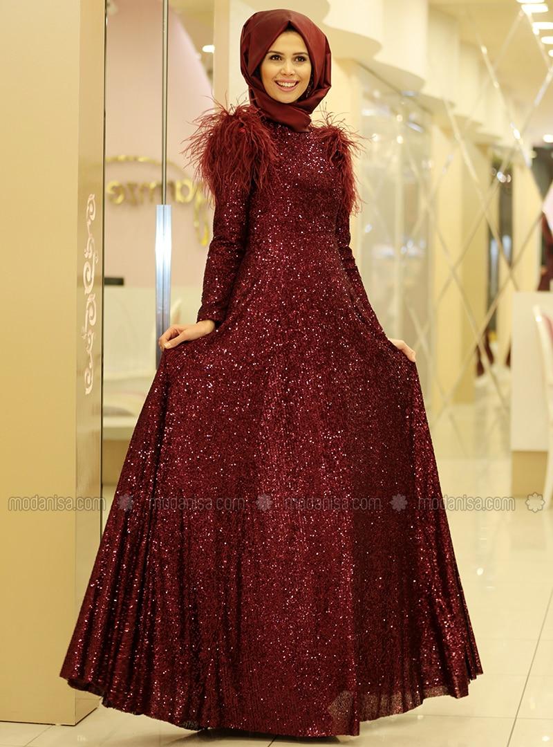 518bd443f80f9 Zara Abiye Elbise - Bordo