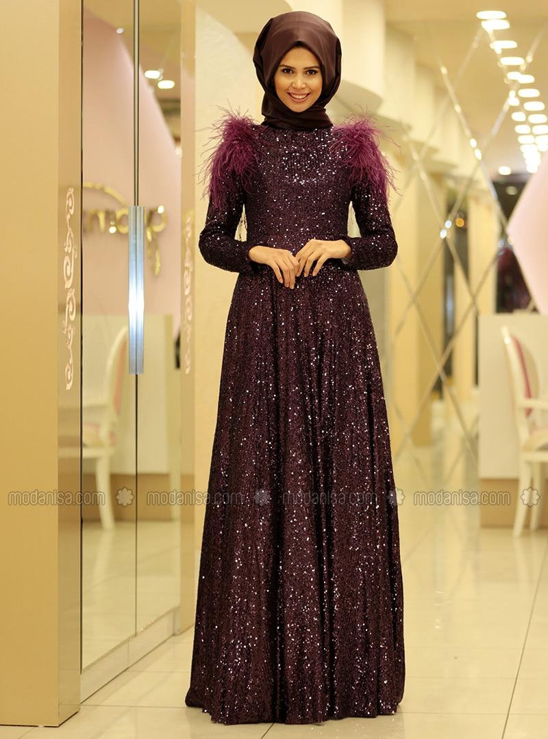228b0257eaded Zara Abiye Elbise - Mürdüm