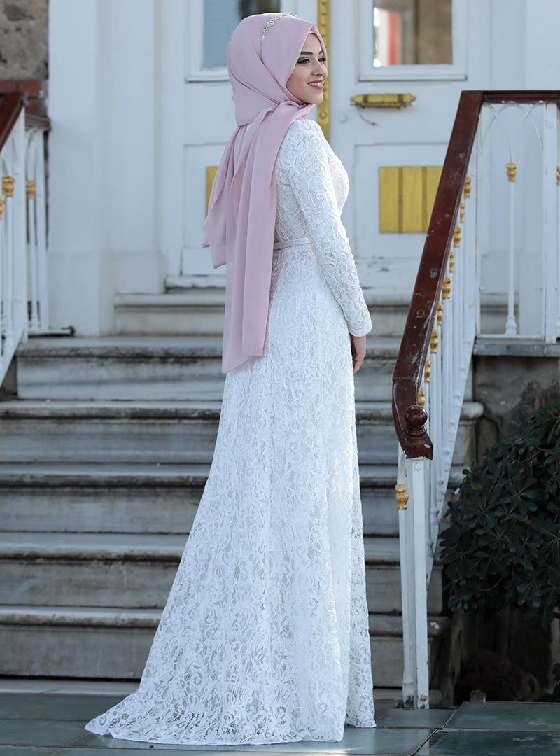 Al-Marah Ekru Milen Abiye Elbise