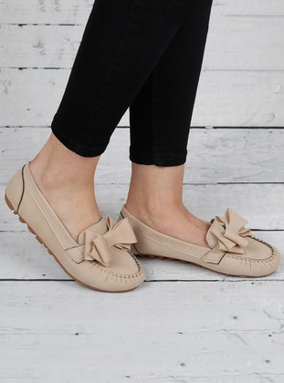 Cream - Flat - Flat Shoes