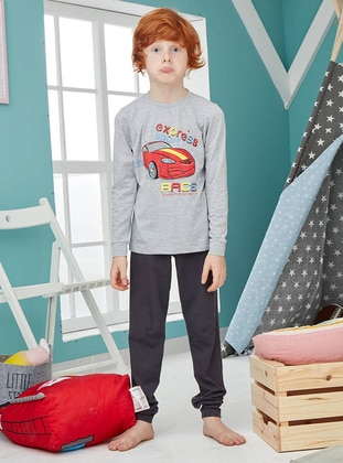 Crew neck - Cotton - Gray - Baby Pyjamas