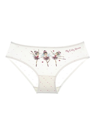 Cotton - Cream - Girls` Underwear