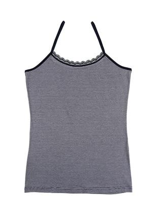 Navy Blue - Combed Cotton - Modal - Undershirt