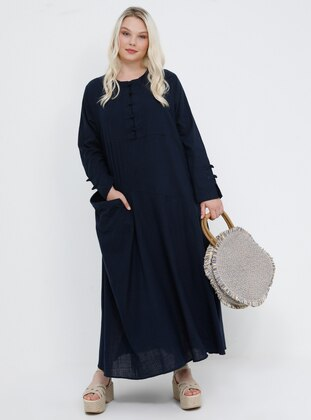 0e31614ba238d Tesettür Büyük Beden Elbise Modelleri - Modanisa.com