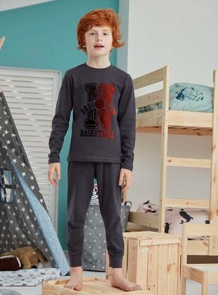 Crew neck - Cotton - Smoke - Baby Pyjamas