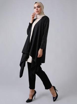 Beige - Black - Unlined - Suit