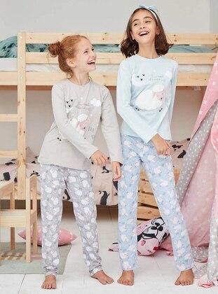 Cotton - Blue - Baby Pyjamas