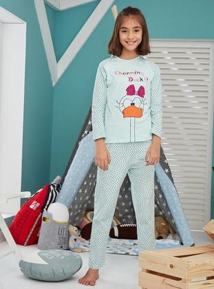 Cotton - Mint - Baby Pyjamas