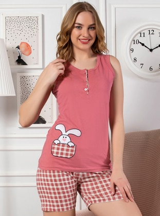 Dusty Rose - Cotton - Short Set - Strawberry Homewear