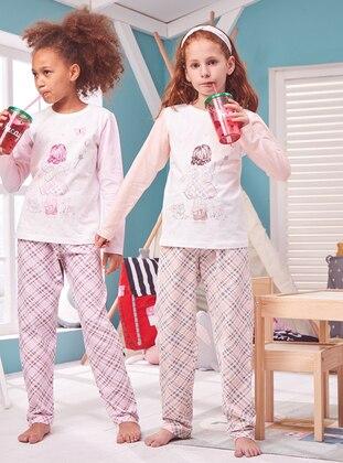 Multi - Crew neck - Cotton - Salmon - Baby Pyjamas