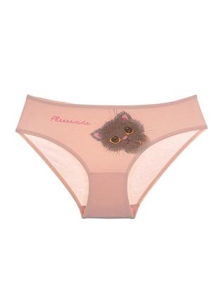 Cotton - Salmon - Girls` Underwear - Donella