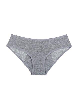 Cotton - Gray - Girls` Underwear